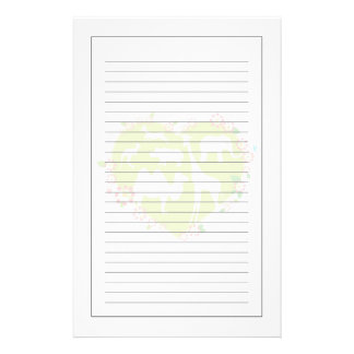 Animals in a Heart Shape Customized Stationery