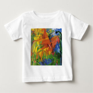 Animals in a Landscape by Franz Marc Baby T-Shirt