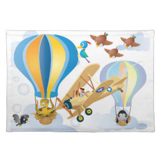 Animals in an Air Balloon Placemat