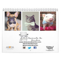 Animals in Bow Ties 2015 Calendar