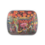 Animals in China Town Jelly Belly Candy Tin
