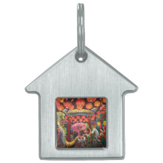 Animals in China Town Pet Name Tags
