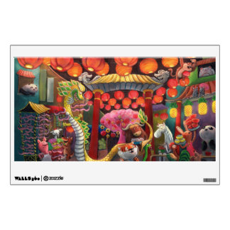 Animals in China Town Wall Sticker