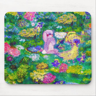 Animals in the Garden Designer Art Gift Collection Mouse Pad