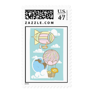 Animals in the Sky Postage Stamp