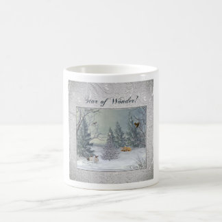 Animals in the Winter Forest, Tree with Star, Star Coffee Mug