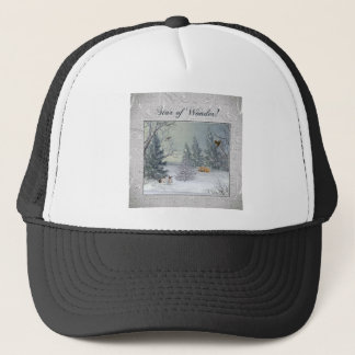 Animals in the Winter Forest, Tree with Star, Star Trucker Hat