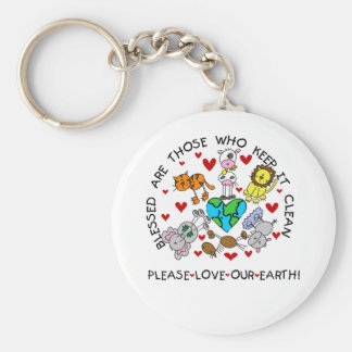Animals Love Our Earth Keychain