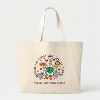 Animals Love Our Earth Large Tote Bag