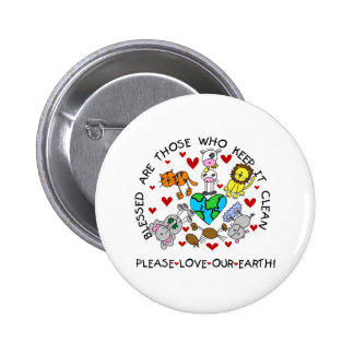 Animals Love Our Earth Pinback Buttons