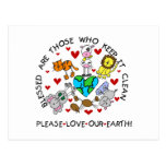 Animals Love Our Earth Postcard