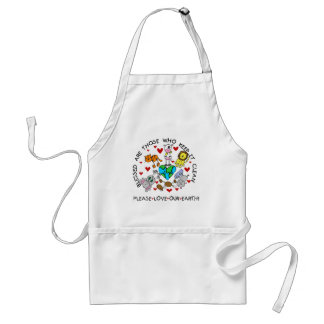 Animals Love Our Earth T-shirts and Gifts Adult Apron