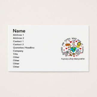 Animals Love the Earth T-shirts and GIfts Business Card