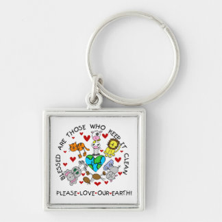 Animals Love the Earth T-shirts and GIfts Keychain