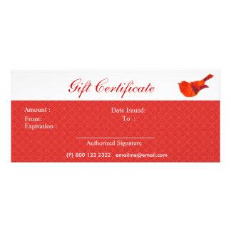 Animals Lovely Red Little Bird Rack Cards