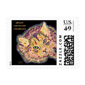Animals Make the World a Beautiful Place postage