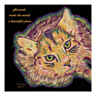Animals Make the World a Beautiful Place poster