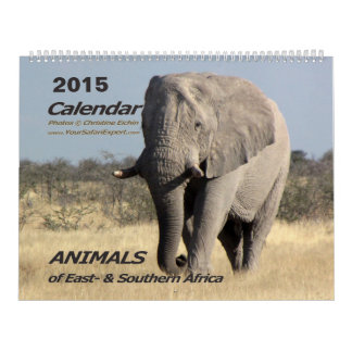 ANIMALS of Africa Calendar 2015 2-Pg.