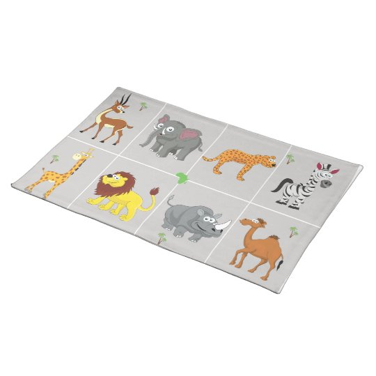 Animals of Africa Cloth Placemat