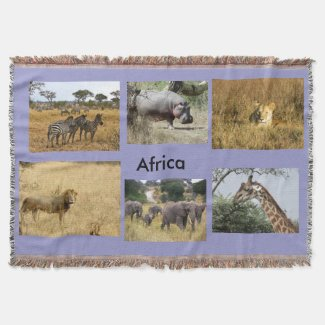 Animals of Africa Throw