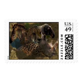Animals of Africa Wildlife Postage Stamp