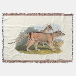Animals Of Australia The Tasmanian Tiger Throw
