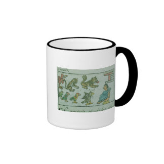 Animals of the Aztec Emperor Ringer Coffee Mug
