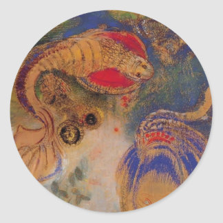 Animals of the Bottom of the Sea by Odilon Redon Sticker
