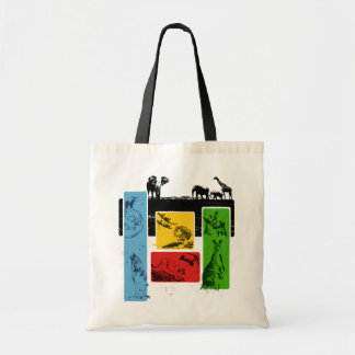 Animals Of The Five Continents Canvas Bags
