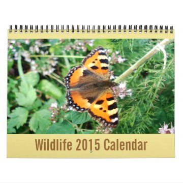 Animals Of The World - Wildlife Calendar For 2015 at Zazzle