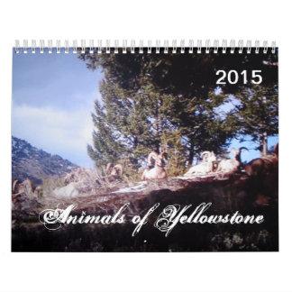 Animals of Yellowstone Custom Printed Calendar