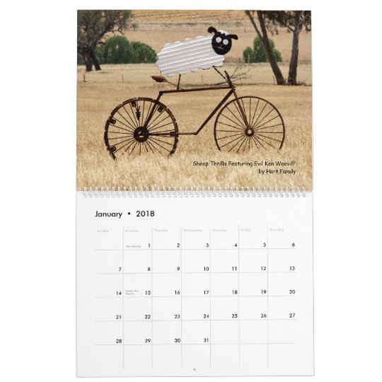 Animals on Bikes Calendar