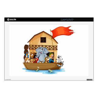 Animals on boat skin for laptop