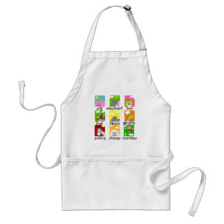 Animals on Parade Tshirts and Gifts Adult Apron