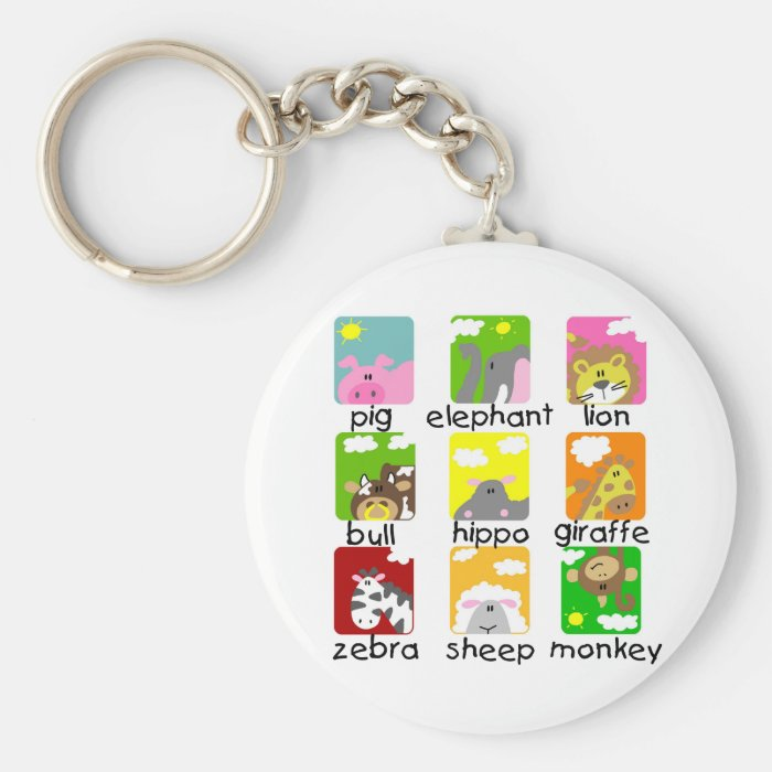 Animals on Parade Tshirts and Gifts Keychain