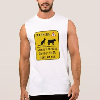 Animals on Road, Warning Sign, Australia Sleeveless T-shirt
