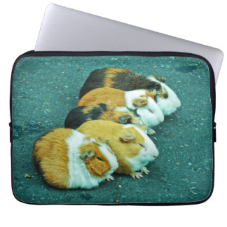 Animals on the road playing. laptop sleeve