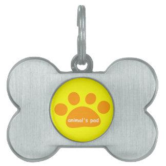 animal's pad pet tag