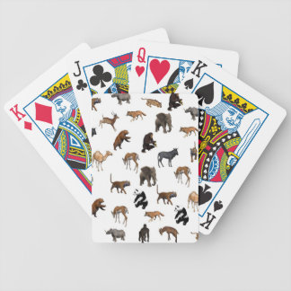 animals pattern bicycle poker cards