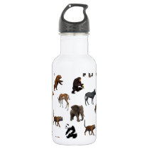 animals pattern stainless steel water bottle