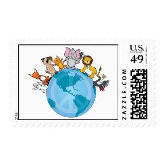 Animals Peace on Earth Postage