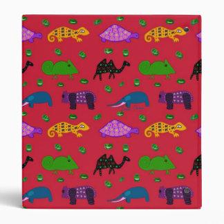 Animals - Purple Turtles & Blue Elephants Vinyl Binder