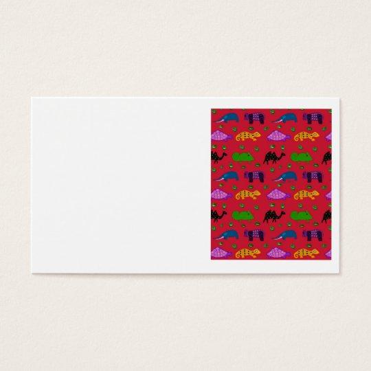 Animals - Purple Turtles & Blue Elephants Business Card