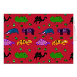 Animals - Purple Turtles & Blue Elephants Cards