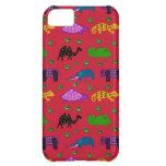 Animals - Purple Turtles & Blue Elephants Cover For iPhone 5C