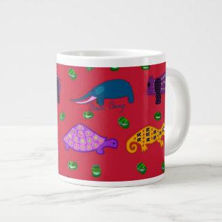 Animals - Purple Turtles & Blue Elephants Giant Coffee Mug