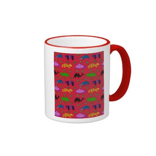 Animals - Purple Turtles & Blue Elephants Coffee Mug