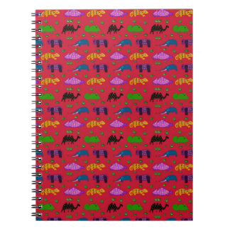 Animals - Purple Turtles & Blue Elephants Notebook
