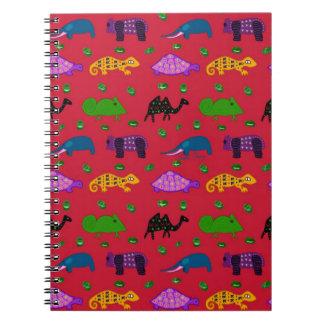 Animals - Purple Turtles & Blue Elephants Note Books