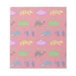 Animals - Purple Turtles & Blue Elephants Memo Pads